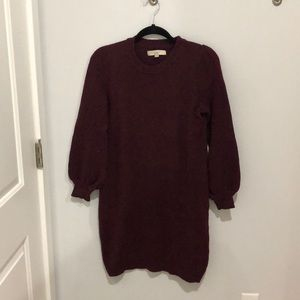 Maroon Loft Sweater Dress